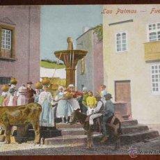 Postales: ANTIGUA POSTAL DE LAS PALMAS . FUENTE ANTIGUA - ESCRITA EN 1904 - SIN REFERENCIA DE EDITOR Y SIN DIV. Lote 39546376