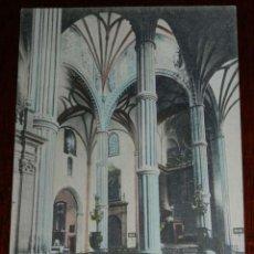 Postales: ANTIGUA POSTAL DE LAS PALMAS, INTERIOR DE LA CATEDRAL, BAZAR ALEMAN, ESCRITA EN 1912, . Lote 39608068