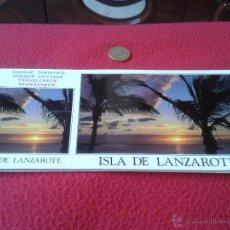 Postales: TALONARIO CHEQUE TURISTICO BLOC DE 10 POSTALES ISLA DE LANZAROTE CANARIAS BRITO MANZANO SOUVENIRS . Lote 40426486