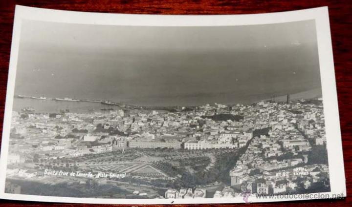 ANTIGUA FOTO POSTAL DE SANTA CRUZ DE TENERIFE - NO PONE FOTOGRAFO - NO CIRCULADA - ESCRITA. (Postales - España - Canarias Moderna (desde 1940))