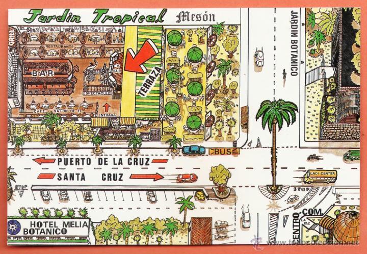 TENERIFE / PUERTO DE LA CRUZ - MESON JARDIN TROPICAL - NUEVA - AÑOS 70 - X (Postales - España - Canarias Moderna (desde 1940))