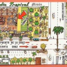 Postales: TENERIFE / PUERTO DE LA CRUZ - MESON JARDIN TROPICAL - NUEVA - AÑOS 70 - X. Lote 40748076