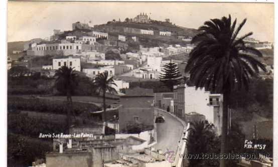 LAS PALMAS. GRAN CANARIA. BARRIO DE SAN ROQUE. FOTO F. B. Nº 57. SIN CIRCULAR. FOTOGRÁFICA. (Postales - España - Canarias Antigua (hasta 1939))