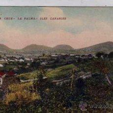 Postais: SANTA CRUZ LA PALMA. ILES CANARIES. PUBLICIDAD EN EL REVERSO. FLOR DE TENERIFE. CIGARRILLOS TABACO.. Lote 40929039