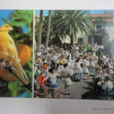 Postales: BAILES TIPICOS EN EL PUEBLO CANARIO. LAS PALMAS DE GRAN CANARIA. Lote 41098806