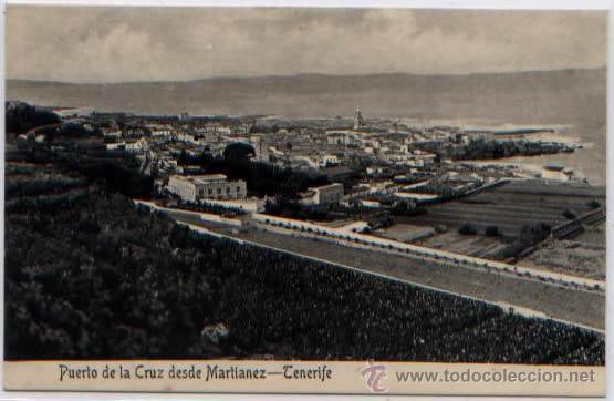 POSTAL ANTIGUA PUERTO DE LA CRUZ DESDE MARTIANEZ TENERIFE ED. NOBREGA'S ENGLISH BAZAR NON DIVIDIDA (Postales - España - Canarias Antigua (hasta 1939))