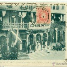 Postales: LAS PALMAS. HOTEL SANTA CATALINA. FIESTA COLONIA INGLESA. FAMILIA DE LATTRE DE TASSIGNY.HACIA 1900.. Lote 41493442