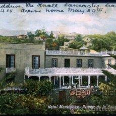 Postales: POSTAL CANARIAS TENERIFE PUERTO DE LA CRUZ HOTEL MARTIANEZ . CA AÑO 1905. Lote 41558108