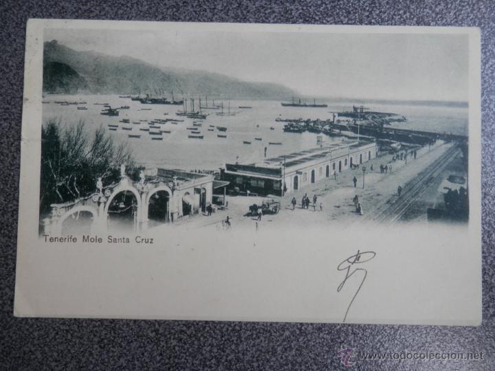 TENERIFE MOLE SANTA CRUZ POSTAL MUY ANTIGUA (Postales - España - Canarias Antigua (hasta 1939))
