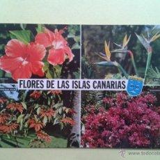Postales: FLORES DE LAS CANARIAS. ED. GLOBAL TRADERS. Lote 41856611