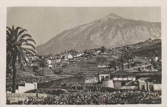 TENERIFE, ICOD Y EL TEIDE, EDITOR: NO LO DICE (Postales - España - Canarias Antigua (hasta 1939))