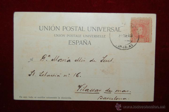 Postales: ANTIGUA POSTAL LAS PALMAS. BAZAR ALEMAN. CIRCULADA - Foto 2 - 42509258