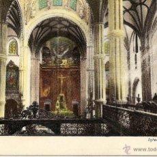 Postales: LAS PALMAS - INTERIOR DE LA CATEDRAL - CIRCULADA EN STA. CRUZ DE TENERIFE AÑO 1909. Lote 43084102