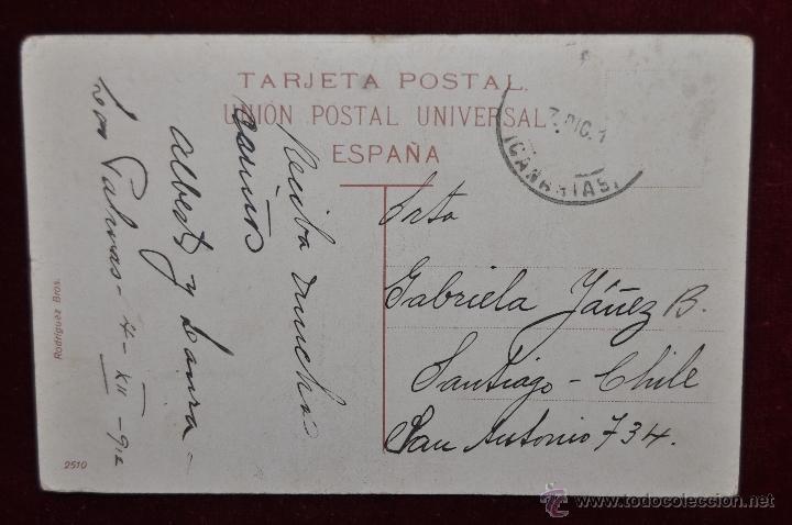 Postales: ANTIGUA POSTAL DE CANARIAS. CAMPESINOS EN LA TRILLA. CIRCULADA - Foto 2 - 43246492