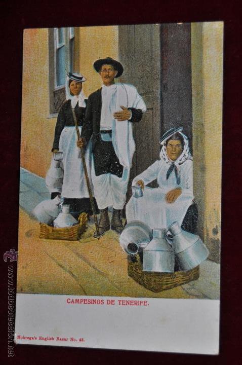 ANTIGUA POSTAL DE TENERIFE. CAMPESINOS. SIN CIRCULAR (Postales - España - Canarias Antigua (hasta 1939))