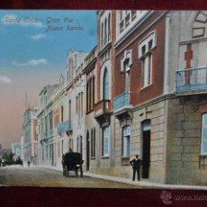 Postales: ANTIGUA POSTAL DE SANTA CRUZ. TENERIFE. GRAN VIA, NUEVO BARRIO. SIN CIRCULAR. Lote 92320220