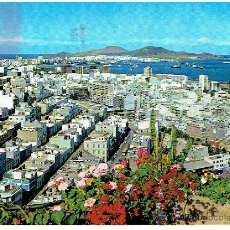 Postales: POSTAL LAS PALMAS DE GRANCANARIA, CIRCULADA CON SELLO, CLOBAL TRADERS. Lote 43509261