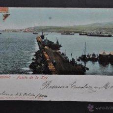 Postales: ANTIGUA POSTAL DE GRAN CANARIA. PUERTO DE LA LUZ. FOT. J. PERESTRELLO. CIRCULADA. Lote 43577579