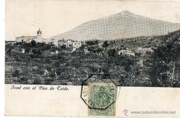 POSTAL ANTIGUA-TENERIFE -JCOD CON EL PICO DE TEIDE (Postales - España - Canarias Antigua (hasta 1939))