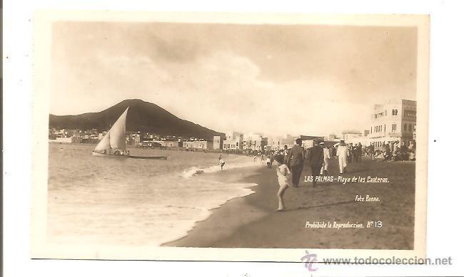 POSTAL LAS PALMAS – PLAYA DE LAS CANTERAS – FOTO BAENA (Postales - España - Canarias Antigua (hasta 1939))