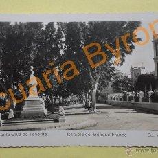 Postales: RAMBLA GENERAL FRANCO. STA. CRUZ DE TENERIFE. ED. ARRIBAS. Lote 43867232