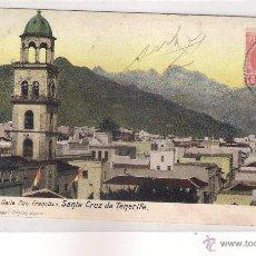 Postales: POSTAL DE SANTA CRUZ DE TENERIFE IGLESIA Y CALLE SAN FRANCISCO .. Lote 44054029