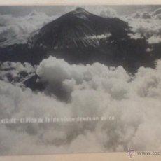 Postales: POSTAL TENERIFE. EL PICO DE TEIDE VISTO DESDE UN AVIÓN. EDIT. J.G.. Lote 44233732