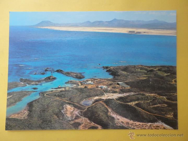 ISLA DE LOBOS, AL FONDO ISLA DE FUERTEVENTURA. ED. LAS AFORTUNADAS (Postales - España - Canarias Moderna (desde 1940))