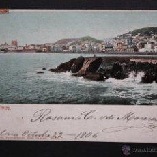 Postales: ANTIGUA POSTAL DE LAS PALMAS. GRAN CANARIA. VISTA COSTERA. CIRCULADA. Lote 44979781