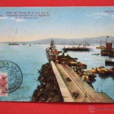 Postales: ANTIGUA POSTAL DE LAS PALMAS. GRAN CANARIA. VISTA DEL PUERTO DE LA LUZ. CIRCULADA. Lote 45145826
