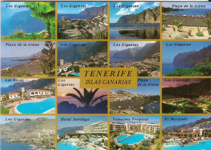 Tenerife acantilado de los gigantes y playa de comprar postales de canarias en todocoleccion - Puerto de los gigantes ...