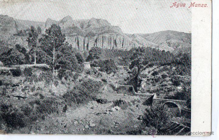 POSTAL ANTIGUA-TENERIFE -AGUA MANSA (Postales - España - Canarias Antigua (hasta 1939))