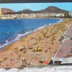 Postales: LAS PALMAS DE GRAN CANARIA. PLAYA DE LAS CANTERAS. POSTAL ESCRITA.. Lote 45613565