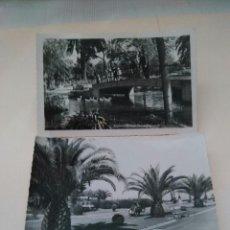 Postales: SANTANDER, 2 POSTALES JARDINES DE PIQUIO (Gª GARRABELLA) Y DE PEREDA (ARRIBAS). Lote 45674488