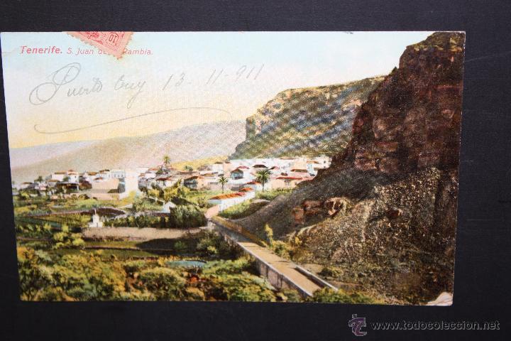 ANTIGUA POSTAL DE S. JUAN DE LA RAMBLA. TENERIFE. VISTA GENERAL. CIRCULADA (Postales - España - Canarias Antigua (hasta 1939))
