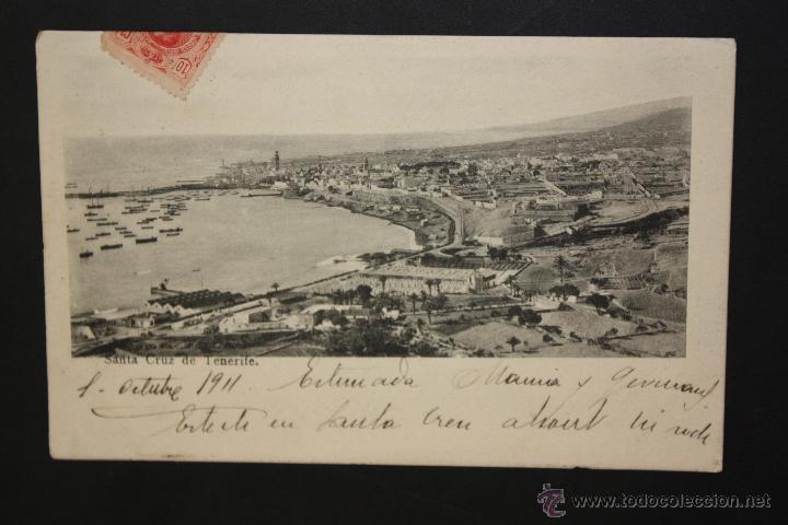 ANTIGUA POSTAL DE SANTA CRUZ. TENERIFE. VISTA GENERAL. CIRCULADA (Postales - España - Canarias Antigua (hasta 1939))