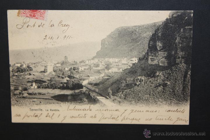 ANTIGUA POSTAL DE TENERIFE. LA RAMBLA. VISTA GENERAL. CIRCULADA (Postales - España - Canarias Antigua (hasta 1939))