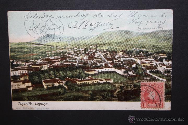 ANTIGUA POSTAL DE LA LAGUNA. TENERIFE. VISTA GENERAL. CIRCULADA (Postales - España - Canarias Antigua (hasta 1939))