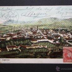 Postales: ANTIGUA POSTAL DE LA LAGUNA. TENERIFE. VISTA GENERAL. CIRCULADA. Lote 46088074