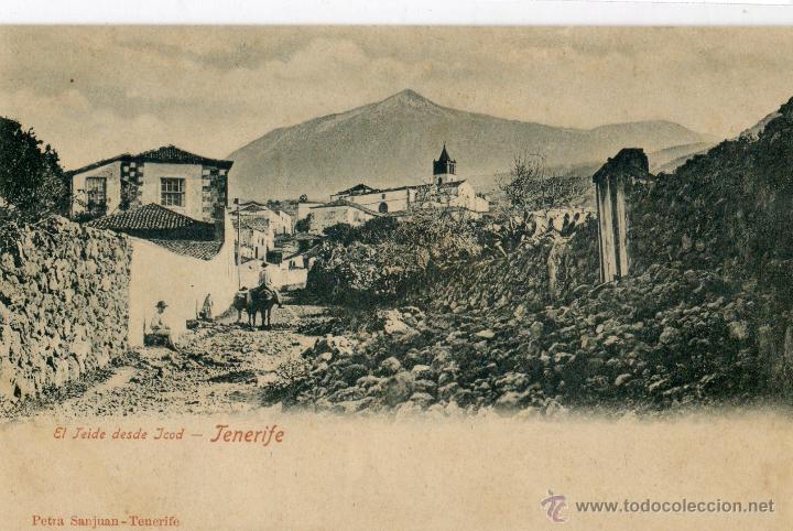 POSTAL ANTIGUA -TENERIFE-EL TEIDE DESDE JCOD (Postales - España - Canarias Antigua (hasta 1939))