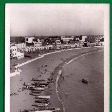 Postales: PUERTO DE LA LUZ - PLAYA DE LAS CANTERAS - GRAN CANARIAS - POSTAL CIRCULADA - AÑO 1952. Lote 46131051