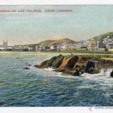 Postales: VISTA GENERAL DE LAS PALMAS. GRAN CANARIAS. FRANQUEADA EL 21 DE FEBRERO DE 1910.. Lote 46148431