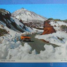 Postais: POSTAL DE TENERIFE. AÑO 1974. TEIDE Y CAÑADAS, COCHE SEAT. 799. Lote 47062869