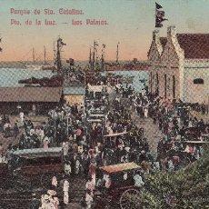 Postales: POSTAL PUERTO DE LA LUZ-PARQUE DE SANTA CATALINA. LAS PALMAS -COLOREADA. Lote 47785520