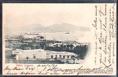 TARJETA POSTAL DE GRAN CANARIA - VISTA. F.LORENZO. 1899. VER DORSO (Postales - España - Canarias Antigua (hasta 1939))