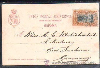 Postales: TARJETA POSTAL DE GRAN CANARIA - VISTA. F.LORENZO. 1899. VER DORSO - Foto 2 - 48711333