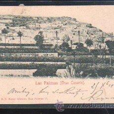Postales: TARJETA POSTAL DE LAS PALMAS, GRAN CANARIA - 4401. BAZAR ALEMAN. 1900. VER DORSO. Lote 48728204