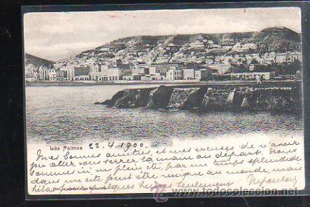 TARJETA POSTAL DE LAS PALMAS - VISTA PARCIAL. 1900. VER DORSO (Postales - España - Canarias Antigua (hasta 1939))