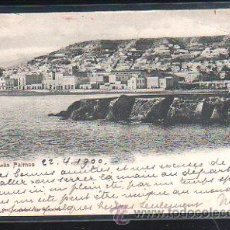Postales: TARJETA POSTAL DE LAS PALMAS - VISTA PARCIAL. 1900. VER DORSO. Lote 48728268