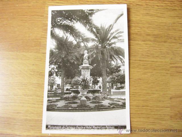 Postal Fotografica Del Monumento A Cairasco Fre Comprar Postales